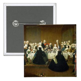 Hochzeits-Frühstück Quadratischer Button 5,1 Cm