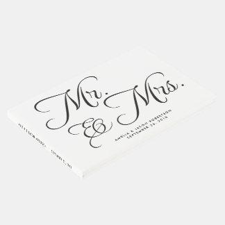 Hochzeits-Gast-Buch, Herr u. Frau, Schwarzweiss Gästebuch