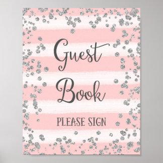 Hochzeits-Gast-Buch-Plakat-Druck Poster