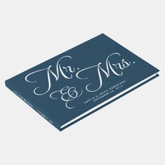 Hochzeits-Gastbuch, -herr u. -frau, -marine und Gästebuch