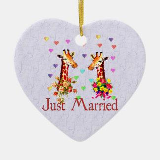 Hochzeits-Giraffen Ornamente