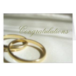 Hochzeits-Glückwunsch Grußkarte