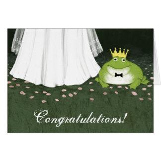 Hochzeits-Glückwünsche Frosch-Prinz-Märchen Grußkarte