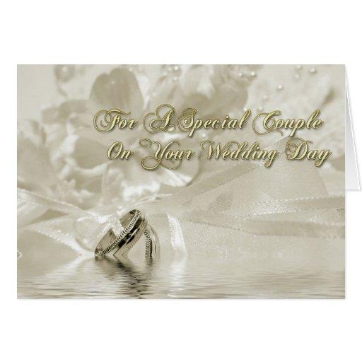 Hochzeits-GlückwünscheSepia Grußkarte