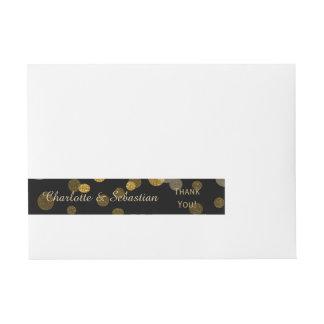 Hochzeits-GoldImitat-Glitter punktiert Gewohnheit Standard Adress Aufkleber