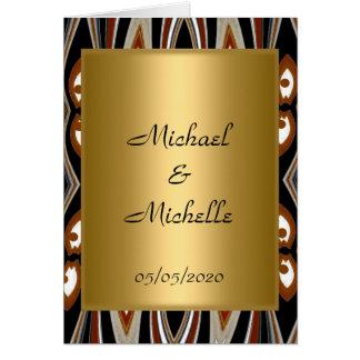 Hochzeits-Goldstammes- Einladung Grußkarte