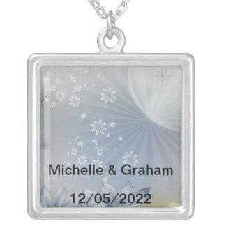 Hochzeits-Halsketten-Änderung der Text