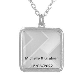 Hochzeits-Halskettenweiß addiert Ihren pwn Text Schmuck