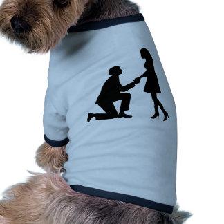 Hochzeits-Heirat-Antrag Hundetshirts