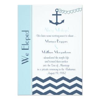 Hochzeits-Heirat-Entlaufen-Mitteilungs-Einladung 12,7 X 17,8 Cm Einladungskarte