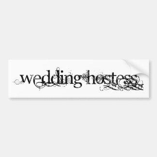 Hochzeits-Hosteß Autosticker