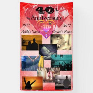 Hochzeits-Jahrestag des Foto-Collagen-Rubin-40. Banner
