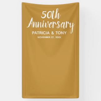 Hochzeits-Jahrestag des Foto-Stand-50 KANN Banner