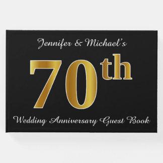 Hochzeits-Jahrestag des Imitat-Goldblick-70. + Gästebuch