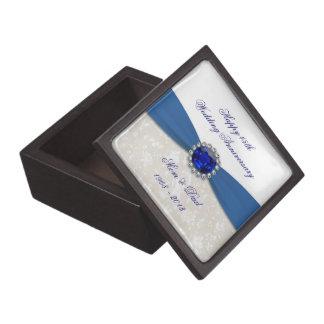 Hochzeits-Jahrestags-Geschenkboxen des Damast-45. Schmuckkiste