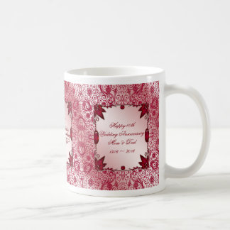 Hochzeits-Jahrestags-Kaffee-Tasse des Rubin-40. Tasse