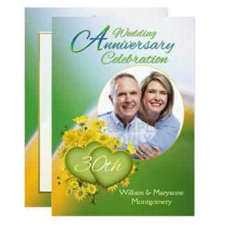 Hochzeits-Jahrestags-Party-Foto der 12,7 X 17,8 Cm Einladungskarte