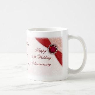 Hochzeits-Jahrestags-Tasse des Damast-40. Tasse