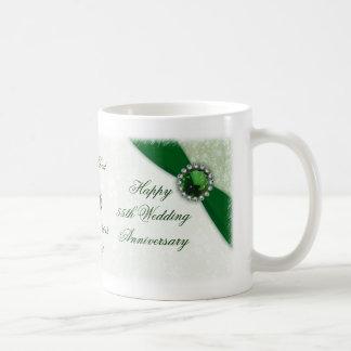 Hochzeits-Jahrestags-Tasse des Damast-55. Tasse