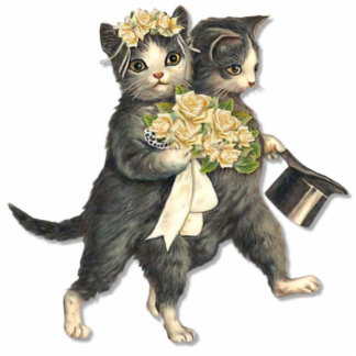Hochzeits-Katzen Freistehende Fotoskulptur