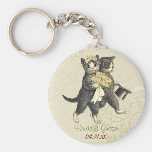 Hochzeits-Katzen Schlüsselband