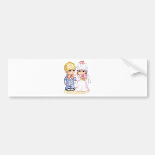 Hochzeits-Kinder Auto Sticker