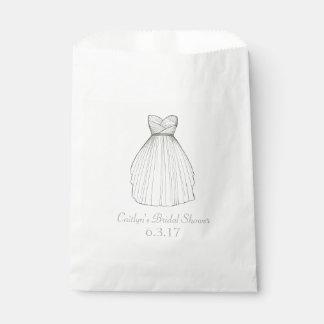 Hochzeits-Kleiderkleiderbraut-Brautparty-Verlobung Geschenktütchen