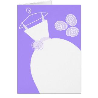 Hochzeits-Kleiderlila Vertikale Karte