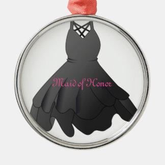 Hochzeits-KleiderTrauzeugin-Weihnachtsverzierung Silbernes Ornament