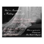 Hochzeits-Kleiderzug-Brautparty-Einladung