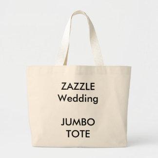 Hochzeits-kundenspezifische riesige große jumbo stoffbeutel