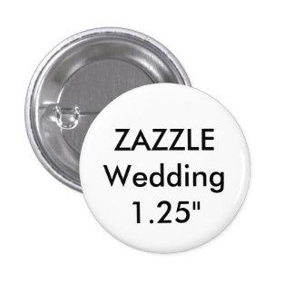 """Hochzeits-kundenspezifisches kleines 1,25"""" rundes runder button 2,5 cm"""