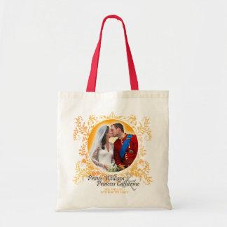 Hochzeits-Kuss-Tasche Williams u. Kate königliche Budget Stoffbeutel