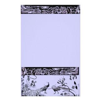 HOCHZEITS-LIEBE-VÖGEL Schwarzes und Blau Druckpapier