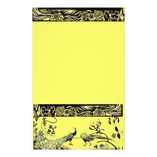 HOCHZEITS-LIEBE-VÖGEL Schwarzes und Gelb Individuelles Büropapier