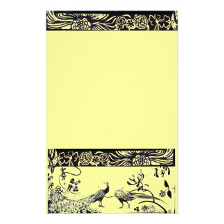 HOCHZEITS-LIEBE-VÖGEL Schwarzes und Gelb Individuelles Druckpapier
