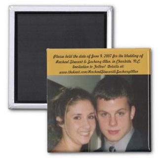 Hochzeits-Magneten Quadratischer Magnet