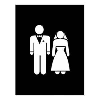HOCHZEITS-MANN-FRAUEN-LIEBE DER HEIRAT-WEDDING01 POSTKARTE