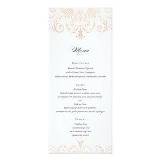 Hochzeits-Menü Boho Chic der Karte