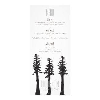 Hochzeits-Menü-Rotholz-Bäume Werbekarte