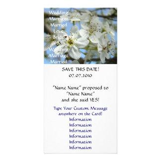 Hochzeits-Mitteilung kardiert Save the Date Blüten