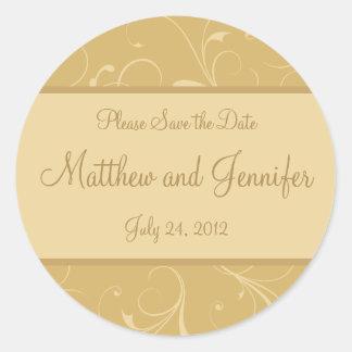 Hochzeits-Mitteilungs-Save the Date Aufkleber
