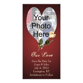 Hochzeits-oder Valentine-kundenspezifische Fotokartenvorlage