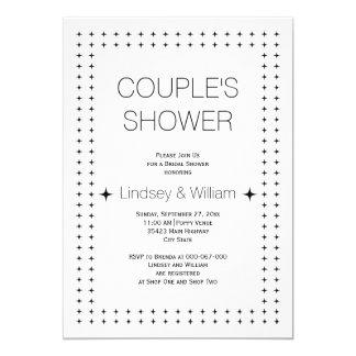 Hochzeits-Paardusche des Schwarz-weißen Chic 12,7 X 17,8 Cm Einladungskarte