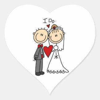 Hochzeits-Paare tue ich T - Shirts und Geschenke Herz Sticker