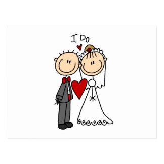 Hochzeits-Paare tue ich T - Shirts und Geschenke Postkarte