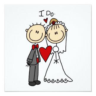 Hochzeits-Paare tue ich T - Shirts und Geschenke Quadratische 13,3 Cm Einladungskarte