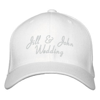 Hochzeits-Party-Braut-u Bräutigam-Namen-Weiß-Hut Bestickte Baseballkappen