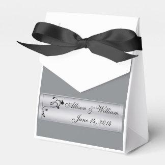 Hochzeits-Party-Geschenkboxen im Silber und im Geschenkkarton