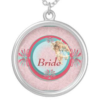 Hochzeits-Party-Halsketten Halskette Mit Rundem Anhänger
